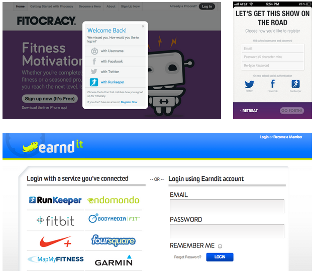 Fitocracy and Earndit make it easy to connect